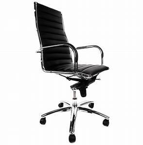 Fauteuil De Bureau Design : fauteuil de bureau design milan en simili cuir noir just 1 clic ~ Teatrodelosmanantiales.com Idées de Décoration