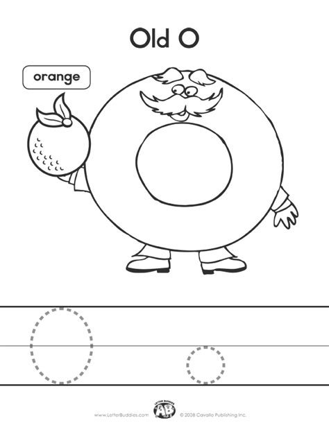 letter buddies coloring worksheet o printable abc