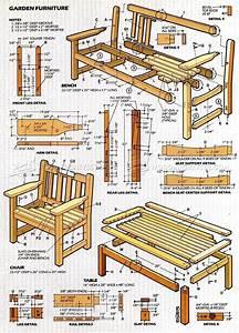 English Garden Furniture Plans • WoodArchivist