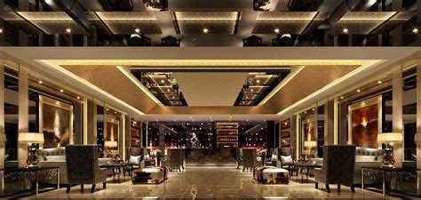 Luxury hotel lobby design with nice look and luxury resort