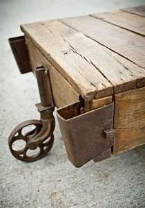 Roulettes Industrielles Anciennes : les 9 meilleures images du tableau table basse industrielle roulettes sur pinterest design ~ Teatrodelosmanantiales.com Idées de Décoration