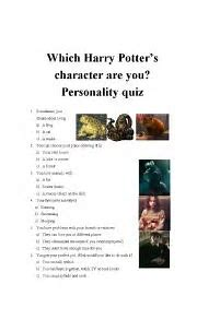 English worksheets: Which Harry Potter's character are you ...