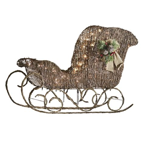 shop holiday living 1 piece 2 ft sleigh outdoor christmas