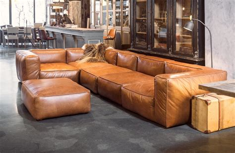 modern leather sectional sale cognac leather sofas are now on trend for 2018 homes