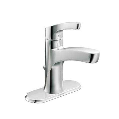 home depot bathroom faucets canada moen danika one handle bathroom faucet in chrome finish