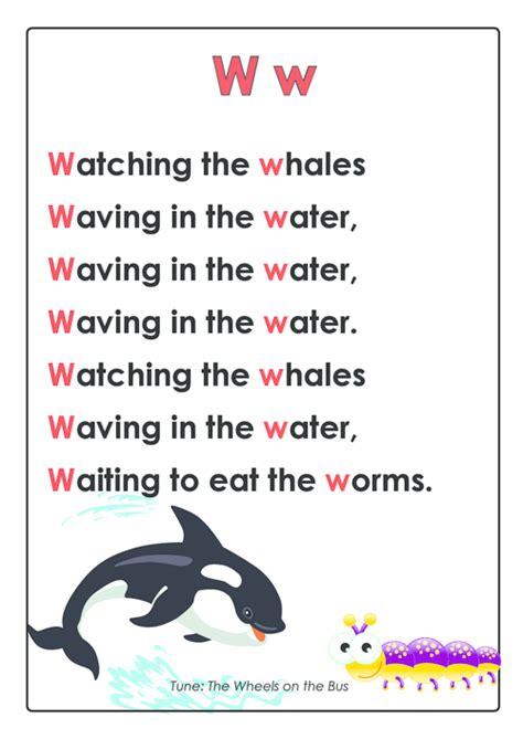 abc rhymes posters bundle activities for letter w abc 882 | 94683df2589e035b6d6955cb93bd0581