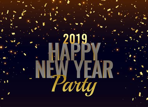 2019 New Year Party Luxury Background