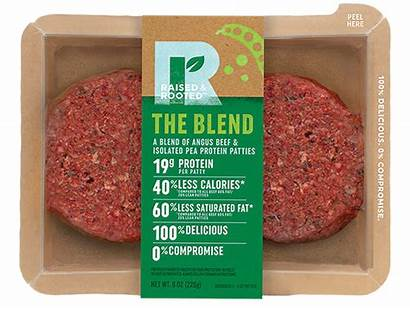 Blended Flexitarian Rooted Raised Packaging Future Meats