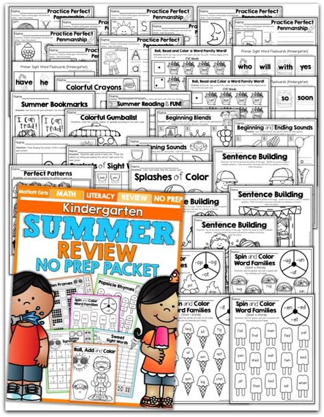 Summer Review Packet For Kindergarten