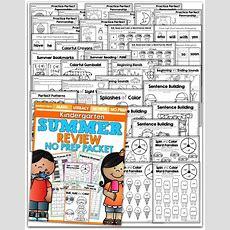 Summer Review Packet For Kindergarten