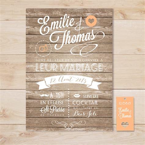 faire part mariage vintage gratuit faire part mariage vintage retro wood bois sweet paper