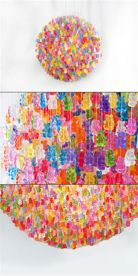 gummy chandelier diy 21 cool and creative ls chandeliers made from everyday