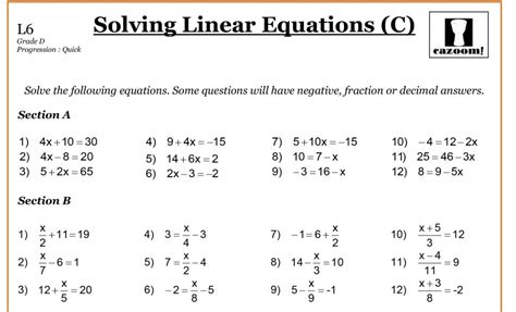 year 8 maths worksheets cazoom maths worksheets solving