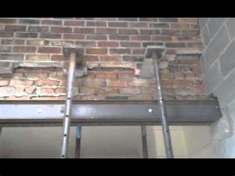 put steel rsj lintels   supporting wall youtube