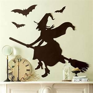 Halloween Deko Außen : deko haus basteln kaminsims halloween party hexe ~ Jslefanu.com Haus und Dekorationen