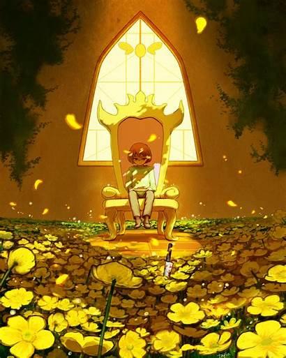 Undertale Chara Throne Zerochan Wallpapers Yellow Fanart