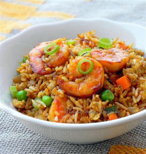 comment cuisiner le plat de cote riz sauté aux crevettes une plume dans la cuisine
