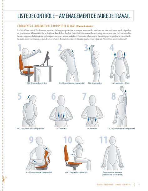 siege d ordinateur guide d ergonomie pour le travail de bureau
