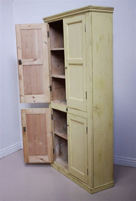 Antique Kitchen Cupboard by 19th Century Antique Painted Pine Kitchen Cupboard