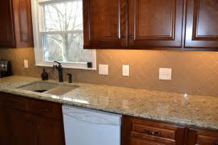 subway tile kitchen backsplashes chage glass subway tile herringbone kitchen backsplash