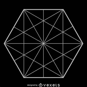Minimalist Hexagon Sacred Geometry