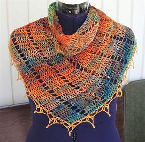 Simple Knits  Autumn Filigree Scarf  Shawl To Crochet