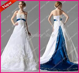white and royal blue wedding dresses | Wedding Ideas