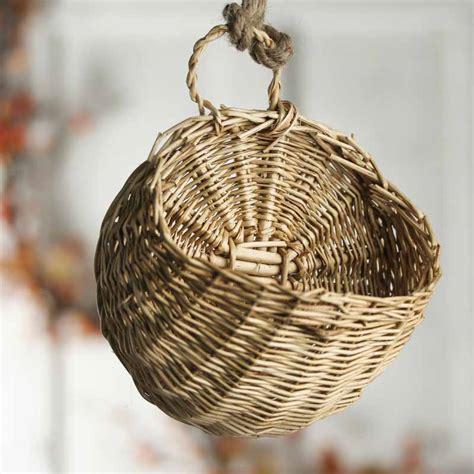 small wall wicker basket baskets buckets boxes