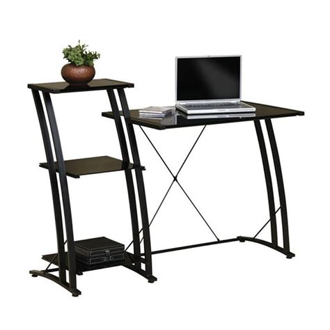 studio rta deco tiered black computer desk ebay