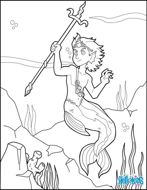 Merman prince coloring pages Hellokids com