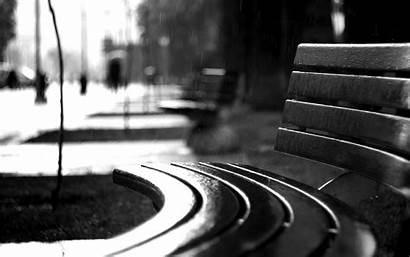 Rain Bw Bench Wallpapers Mood Monochrome Drops
