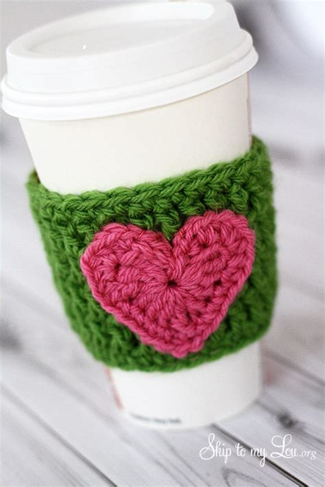 Please share the link with all your friends! HAPPY Holidays: Handmade Gift Idea: Crochet Heart Coffee Cozy! - Tatertots and Jello