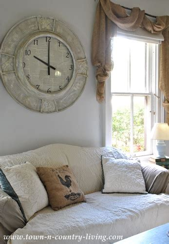 Country Living Room Clocks by My Wall Clock Makeover At Live Creatively Inspired