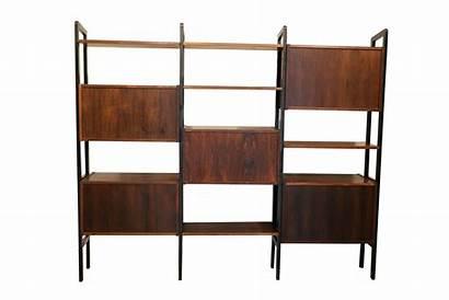 Mid Century Modern Divider Bookcase Desk Hutch