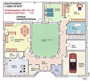 Atrium Bungalow Grundrisse : atrium 7 4 winkelbungalow einfamilienhaus neubau massivbau stein auf stein ~ Bigdaddyawards.com Haus und Dekorationen