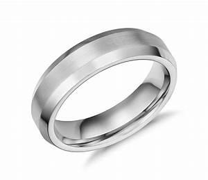 beveled edge matte wedding ring in cobalt 6mm blue nile With matte wedding ring