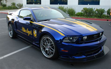 Unique Ford Blue Angels Mustang Up For Auction At Eaa