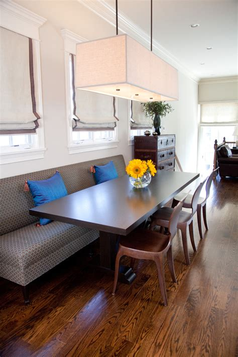 sofa table ideas dining room transitional  banquette