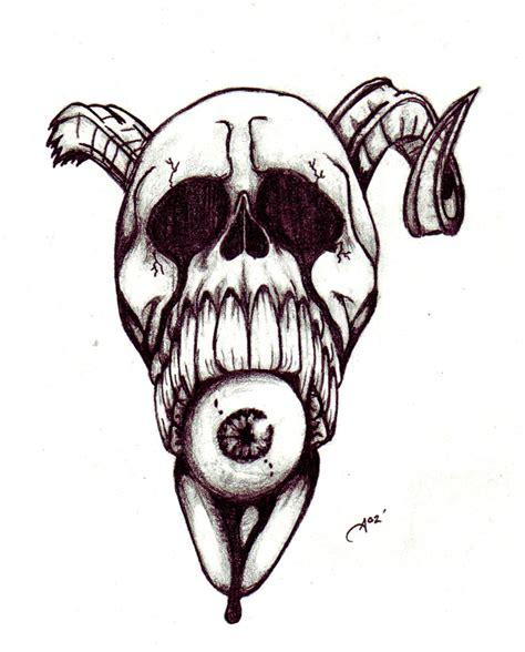 demon skull  ashes  deviantart