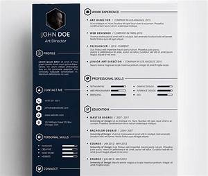 free creative resume template by daniel hollander cv With free original resume templates