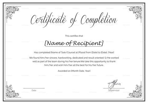 certificate courses custom made course completion certificate design template