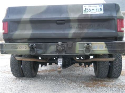 sell  chevy cucv military truck   rare dually