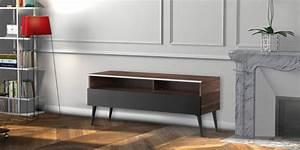 Meuble Tv Bois Foncé : meliconi karlstad 120 bois fonc meubles tv meliconi sur ~ Teatrodelosmanantiales.com Idées de Décoration