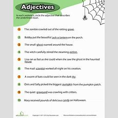 Halloween Adjectives 10 Wicked Worksheets Educationcom