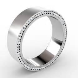 Men Wedding Bands with Diamonds