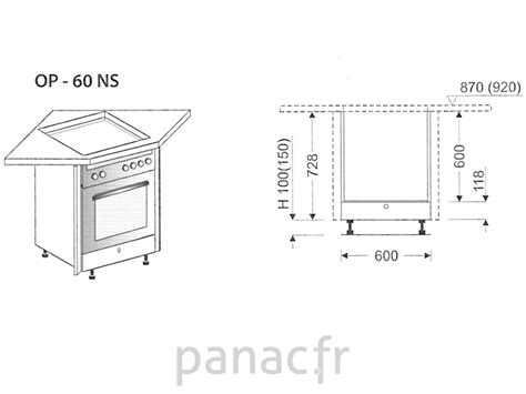 meuble cuisine plaque cuisson meuble d 39 angle sous plaque de cuisson op 60 ns