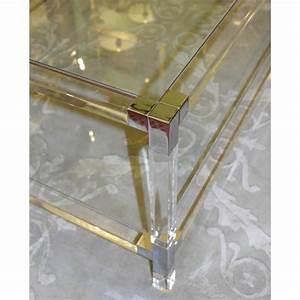 Table Basse En Plexiglas : table basse lux en plexiglas et verre sur moinat sa ~ Teatrodelosmanantiales.com Idées de Décoration