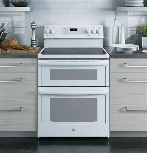 oven standing electric double convection ge range stoves
