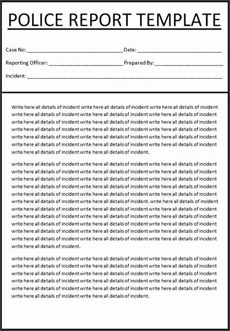 police report template  sampletemplatess