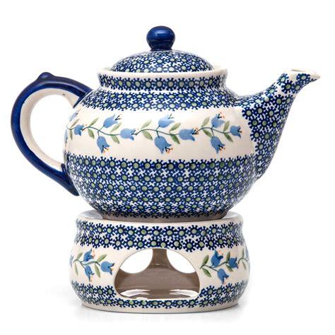 4h-shop.de: Bunzlauer Keramik Kanne Mit Stövchen 1,3 Liter